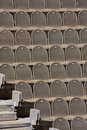 Brown seats in the amphitheatre Royalty Free Stock Photo