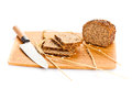 Brown seed bio bread isolated on white background Royalty Free Stock Photo