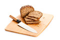 Brown seed bio bread isolated on white background healthy food Royalty Free Stock Photo