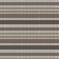 Brown shade and white striped knitting pattern background