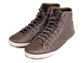 Brown sneakers on white background Royalty Free Stock Image