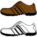 Brown Sports Shoe Royalty Free Stock Images