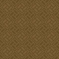 Brown square grid pattern korean traditional design series Royalty Free Stock Photography
