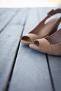 Brown suede shoes close up of Royalty Free Stock Images