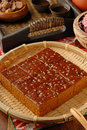 Brown sugar cake for tea time Royalty Free Stock Photo