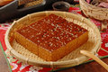 Brown sugar cake for tea time Royalty Free Stock Images
