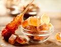 Brown Sugar. Cane Sugar Royalty Free Stock Photo