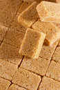 Brown sugar cubes close up Royalty Free Stock Image