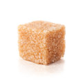Brown sugar cubes isolated on white Stock Image