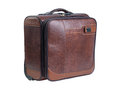Brown suitcase Royalty Free Stock Photos