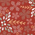 stock image of  Brown summer flower seamless pattern