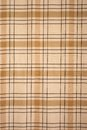 Brown tablecloth tartan pattern background of color Royalty Free Stock Image