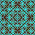 Brown and teal pattern Stock Images