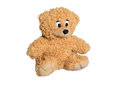 Brown teddy bear baby on a white background Royalty Free Stock Photos