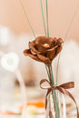 Brown textile flower Royalty Free Stock Photos