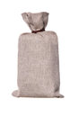 Brown textured sack isolated on white Stock Image