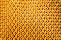 Brown thin bamboo weave is a zig-zag pattern from Thai artisans on handmade in thai art style Royalty Free Stock Photo