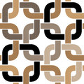 Brown twisted rings seamless pattern Stock Photo