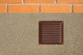Brown ventilation grille
