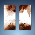 Brown vertical modern banner paint splatter Royalty Free Stock Photo