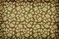 Brown vintage floral wallpaper Stock Images