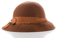 Brown vintage hat Royalty Free Stock Photos