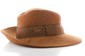 Brown vintage hat Royalty Free Stock Photo