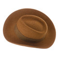 Brown vintage hat Stock Images