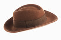 Brown vintage hat Royalty Free Stock Image