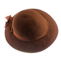 Brown vintage hat isolated on white background Stock Photo