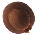 Brown vintage hat on white background Royalty Free Stock Photography