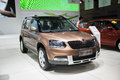 Brown volkswagen skoda yeti car in central china international auto expo Royalty Free Stock Images