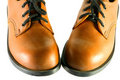 Brown walking shoes Royalty Free Stock Image