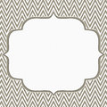 Brown and white chevron zigzag frame background with center for copy space classic Stock Image