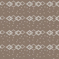Brown and white diamond shape overlapped with spot knitting patt