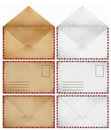 Brown and white Old envelopes Stock Photo