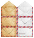 Brown and white Old envelopes Royalty Free Stock Photos