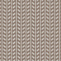 Brown and white rectangle vertical striped knitting pattern back