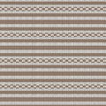 Brown and white striped with circle loop striped knitting patter