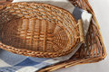 Brown wicker basket Stock Image