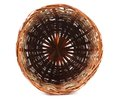 Brown wicker basket top view isolated on white background Stock Images