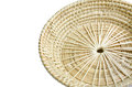 Brown wicker basket on white background isolated Royalty Free Stock Photos