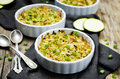 Brown and wild rice zucchini casserole Royalty Free Stock Photo