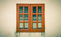 Brown Windows Frame on Grunge Background Vintage Style Royalty Free Stock Photo