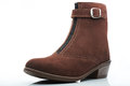 Brown woman boot Royalty Free Stock Photo