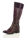 Brown women boot Royalty Free Stock Photo