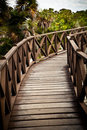 Brown Wood Bridge Royalty Free Stock Images