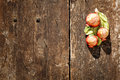 Brown wooden background grunge, pomegranate object Royalty Free Stock Photo