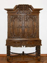 Brown wooden cupboard Royalty Free Stock Photos