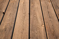 Brown wooden table background texture with perspective effect Royalty Free Stock Images